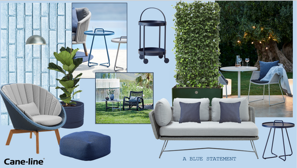 Blue scandinavianoutdoor furniture
