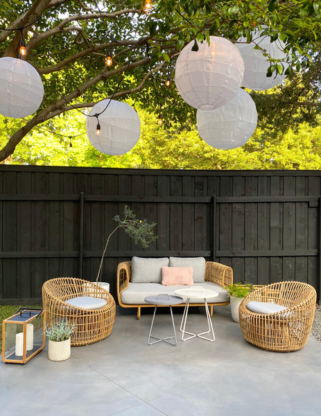 Beautiful garden decor with modern garden furniture