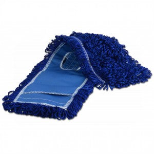 "48"" X 5"" BLUE MICROFIBER DUST MOP HEAD"