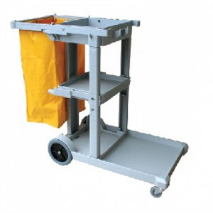 JANITOR CART GRAY W/ YELLOW BAG