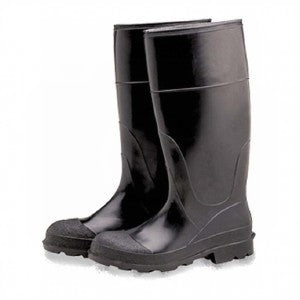 RUBBER BOOTS BLACK PLAIN TOE