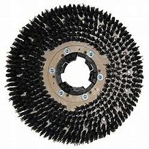 "17"" STIFF POLY SCRUB BRUSH W/CLUTCH PLATE"