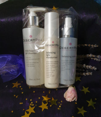 Mild Foaming Gel Cleanser. Toner, Moisturiser Bundle