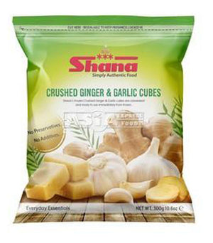 Shana Crushed Ginger & Garlic Cubes 300g