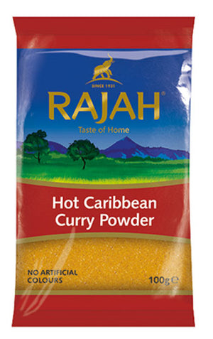 Rajah Hot Caribbean Curry Powder 100g