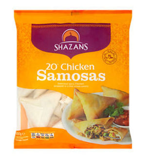Shazans Chicken Samosas  20 pack 650g