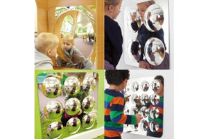 Large Acrylic Mirror Panel Set - Pk4