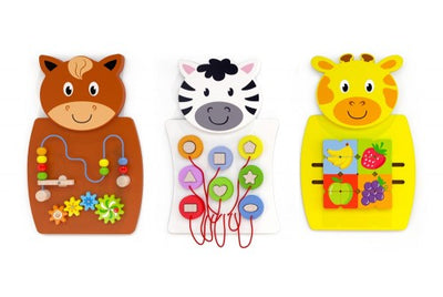 Animals Activity Wall Ser - Pk 3