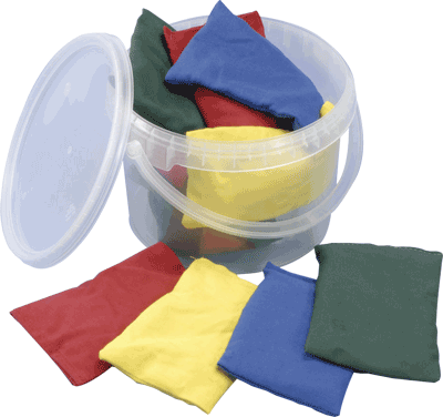 Bean Bags Cotton Pack 12 in a bucket