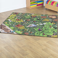 Natural World Woodland and Minibeasts Double Sided Carpet