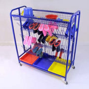 Welly Boot Storage Trolley Mobile