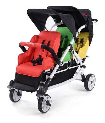 Familidoo 3 Seater Lightweight Stroller with Rain cover