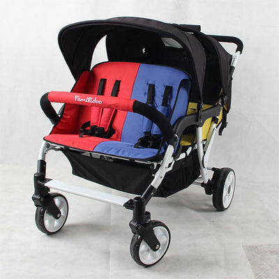 Familidoo Budget Four Seat Stroller with Rain Cover