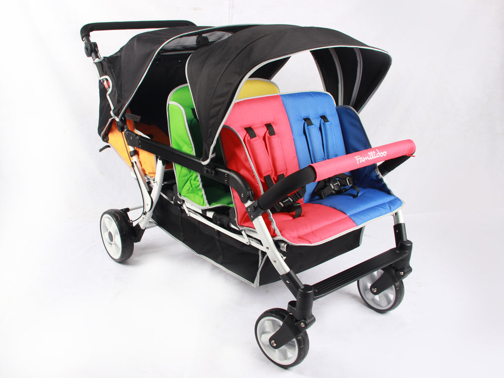BUDGET 6 SEATER FAMILIDOO STROLLER WITH RAINCOVER