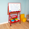 Landscape Mobile Magnetic Drywipe Easel Double Boarded
