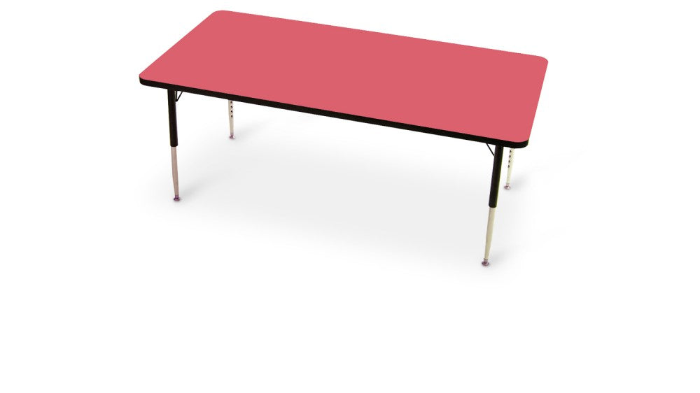 Tuf-Top Height Adjustable Rectangular Top Table