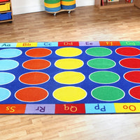 Rainbow ABC Rectangular Carpet