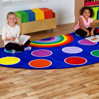 Rainbow Large Semi-Circle Placement Carpet