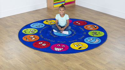 Emotions Circular Placement Carpet