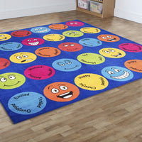 Emotions Large Square Placement Carpet