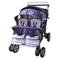 Rabo Four Seater Stroller with footbrake and seat belt straps