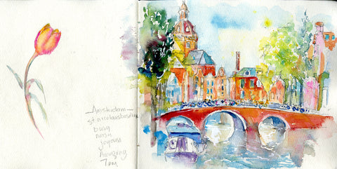 Sketchbook Tour No 3 Cornwall and Amsterdam