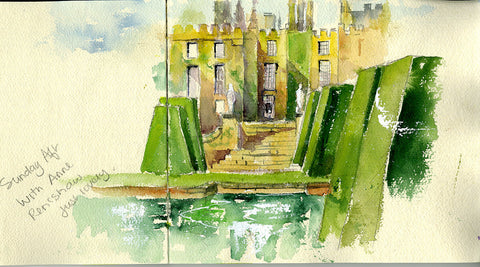 Renishaw Hall and Gardens Outdoor Painting