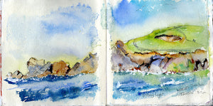 Cornwall Amazing Aqua Seas Sketchbook Tour