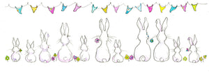 Bunny Rabbits Greeting Card