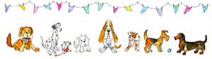 Doggies - Greeting Card