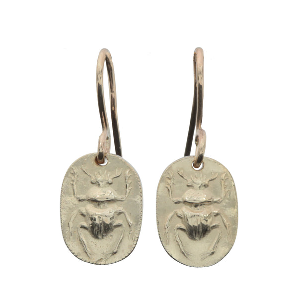 Ancient Honey - Scarab Earrings