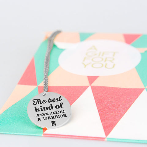 Image of Mother's Day Pendant - The Best Kind of Mom Raises Warrior