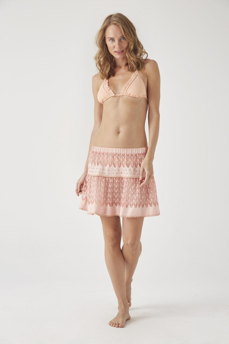 98c72537ef FORMENTERA Lace Ombre Skirt. CHIOS Lace Mini Skirt