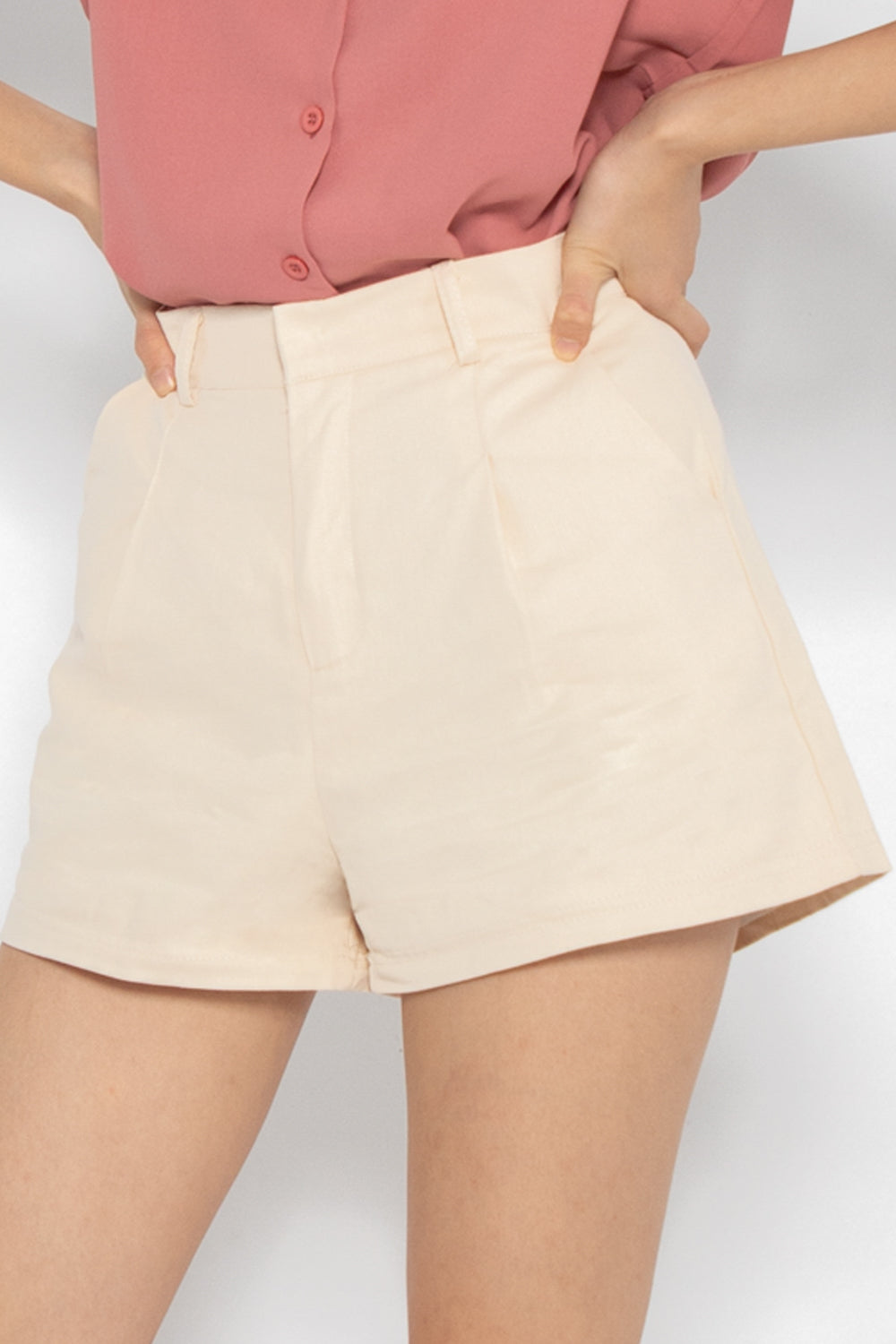 Sadie Casual Shorts in Almond - Three One Duo