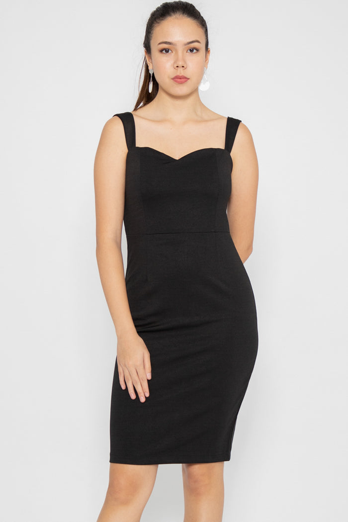 Kate Little Black Dress in Black - Three One Duo