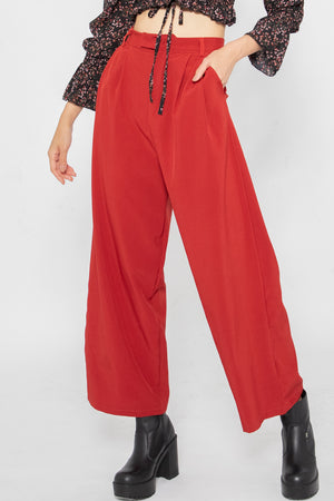 Jordyn Flare Long Pants in Red - Three One Duo