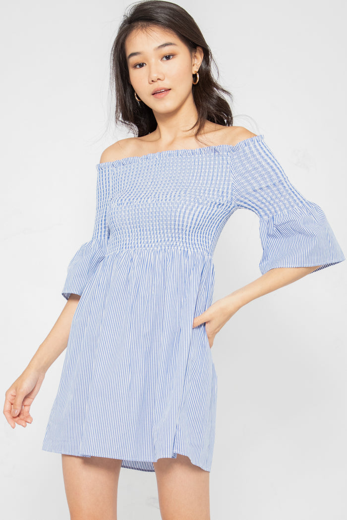 Jillian Off-Shoulder Flare Dress - Three One Duo