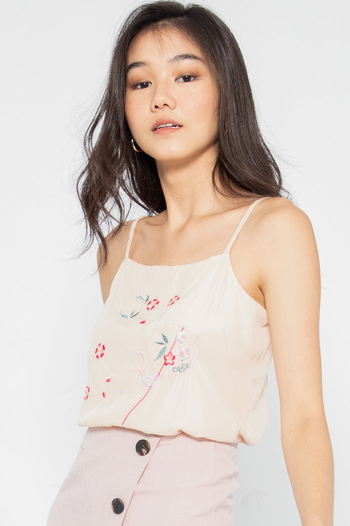 Kiara Floral Embroidered Top - Three One Duo