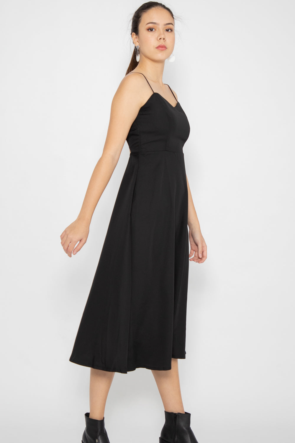 Diana Cross Back Midi Dress - Three One Duo