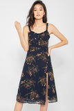 *Restocked* Blakely Floral Midi Dress in Navy - Three One Duo