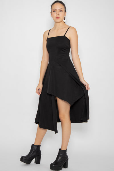 Everleigh Asymmetric Midi Dress