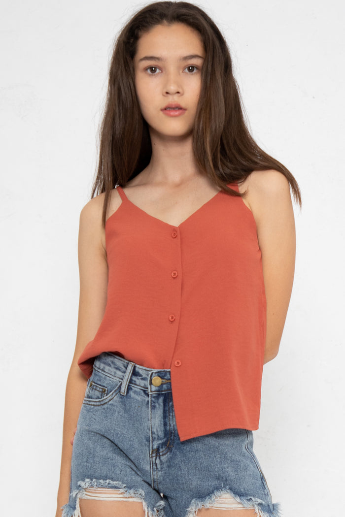 Nellie Button Down Cami Top - Three One Duo