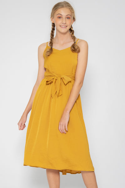 Luna Open Back Midi Dress