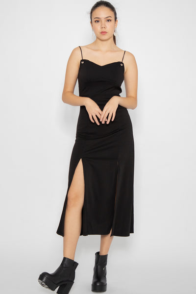 Vivienne Self Tie Slit Maxi Dress