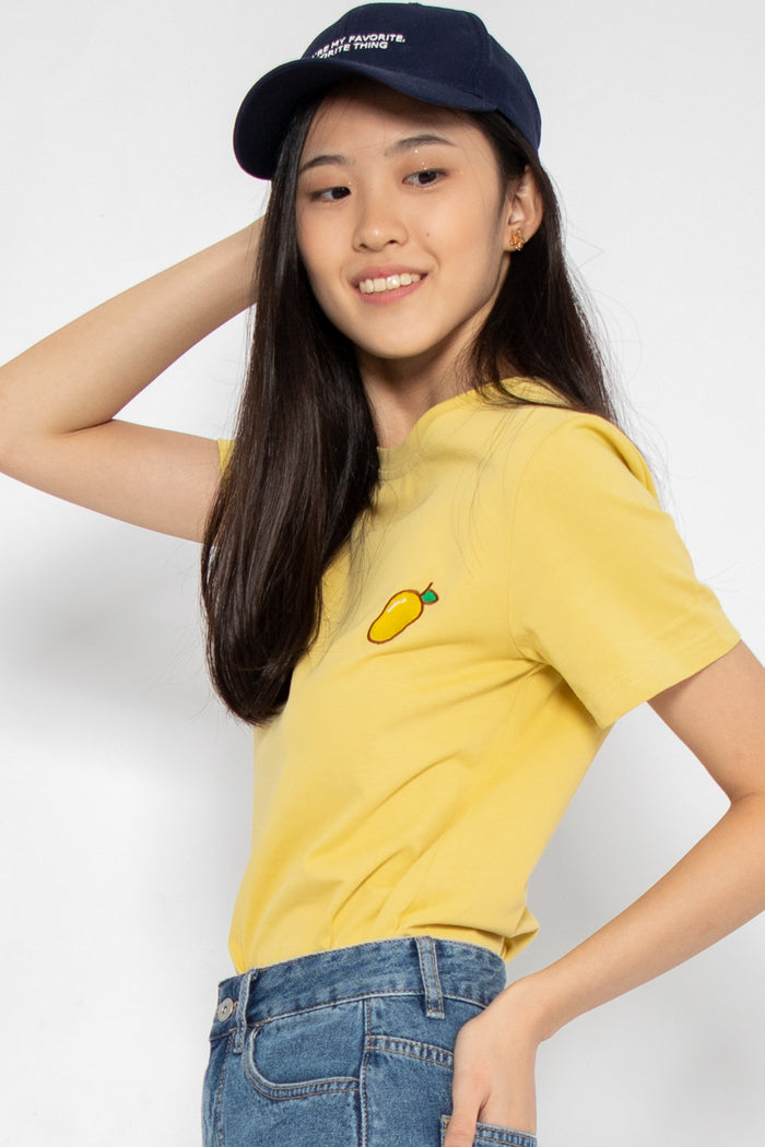 *Restocked* Cute Fruits Graphic Tee in Mango Tango - Three One Duo