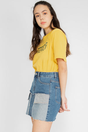 Elise Exposed Pocket Denim Skirt - Three One Duo