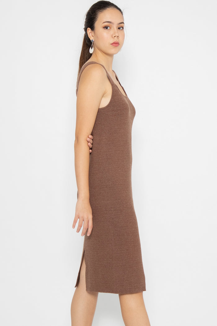 Madison Basic Knit Midi Dress - Three One Duo