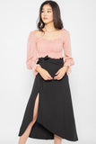 *Restocked* Dulce Side Slit Midi Skirt in Black - Three One Duo