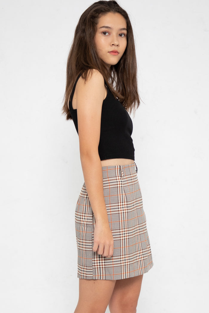 Peyton Checkered A-Line Wrap Skorts - Three One Duo