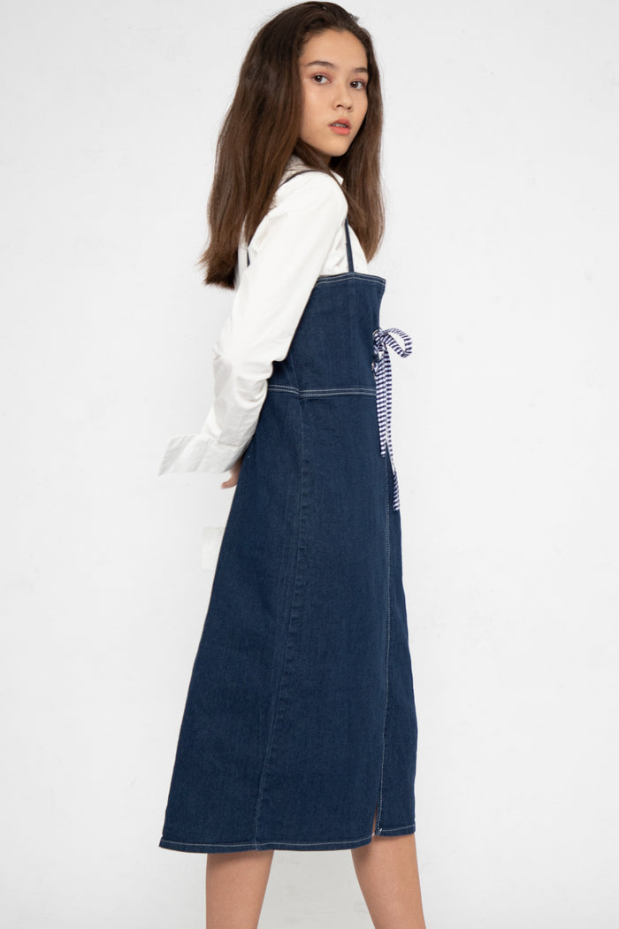 Josie Shoelace A-Line Dungaree - Three One Duo